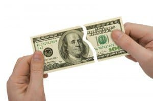 broken dollar