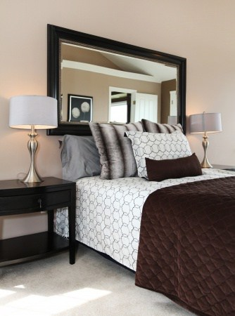 bedroom lamp mirrors side table