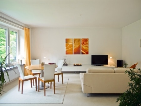 home apartment interior staged furniture
