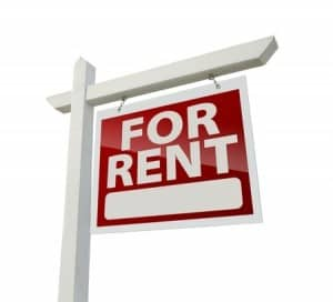 for rent plain sign