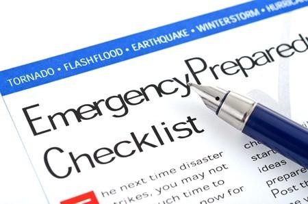emergency prepared checklist
