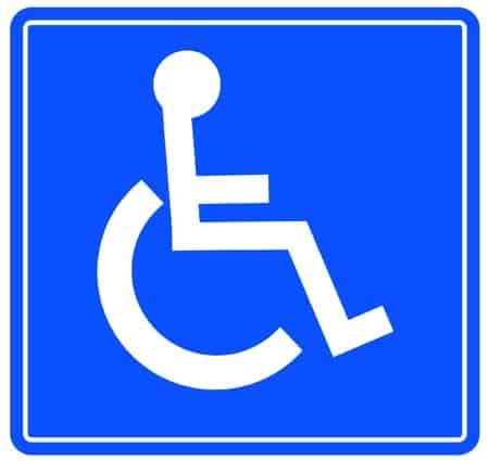 handicap tenant sign