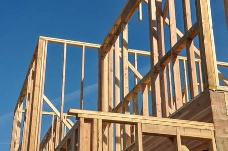 apartment under construction framing