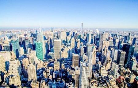 new york skyline overhead