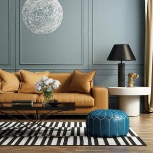 interior design couch colorful lamp rug decorative decorating decoration