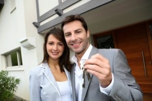 couple keys garage house home renters