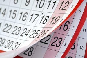 calendar date move in out