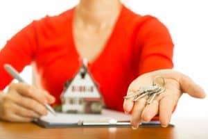 Handing keys over for a rental