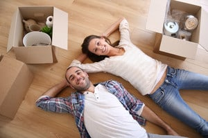 New couple moving into apartment