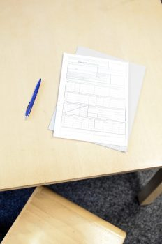 Rental Application on table