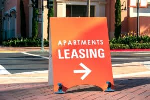 leasing sign, rent